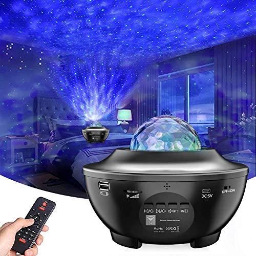 LED Sternenhimmel Projektor Lampe Nachtlicht Galaxy Projektor, Eingebautem Bluetooth Musiklautsprecher für Party Weihnachten Ostern und Kinder Erwachsene Zimmer Dekoration