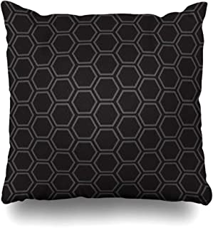 ArtsDecor Throw Pillow Covers Honeycomb Gray Bee Pattern These Hexagons Form Abstract Creative Geometric That in Your Black Depth Home Decor Cushion Square Size 18