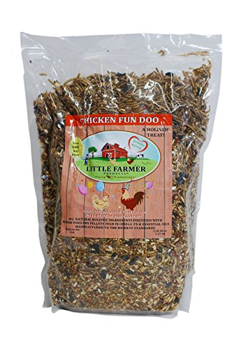 LITTLE FARMER PRODUCTS Chicken Fun-DOO Non-GMO, Soy-Free Chicken Treat | Premium Poultry Mealworm, Vegetable & Herb Mix (5 lbs)