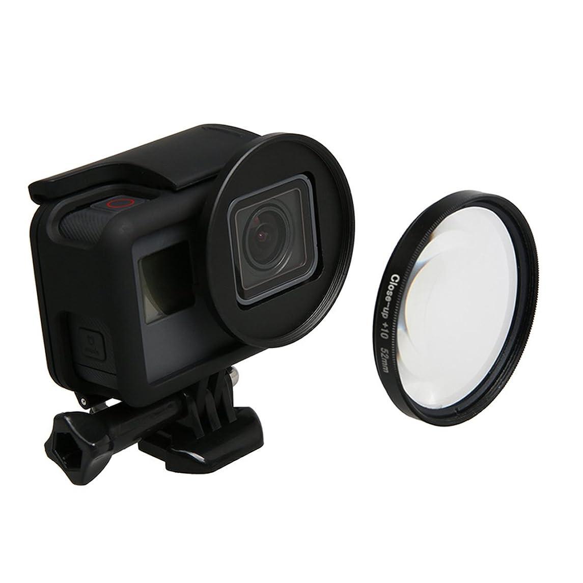 Meijunter 52mm Macro Lens 10X Magnification for GoPro Hero 6/Hero 5 Black Camera, HD Macro Filter Lens 10X Magnification + Adapter Ring Accessories
