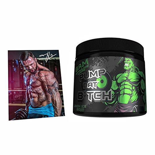 Fan Edition B.A.M Pump Dat Biatch Pump-Booster Trainingsbooster Bodybuilding 300g inkl. Jil Postkarte Mit Signatur