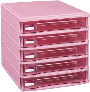 Module de rangement 5 tiroirs Armoires de classement en plastique Boîte de rangement Famille Cabinet Armoire de bureau Arc...