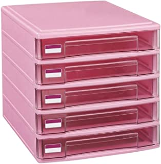Rangement de dossiers 5 tiroirs Armoires de classement en Plastique Boîte de Rangement Famille Cabinet Armoire de Bureau A...
