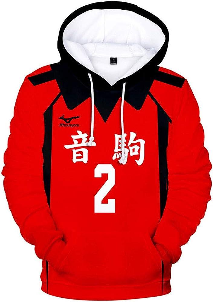 Haikyuu Cosplay Nekoma High School Uniforme de Voleibol Kozume Kenma Fukurodani Sudadera con Capucha Bokuto Koutarou Sudaderas