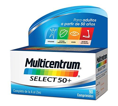 Multicentrum Select 50+, Complemento Alimenticio con 13 Vitaminas y 11 Minerales, para Adultos a partir de los 50 años - 90 Comprimidos