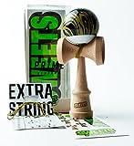 Sweets Kendamas Prime Grain Split 2.0 Kendama, pintura adhesiva, paquete de regalo de accesorio de cuerda adicional (Sandstorm)