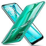 ivencase für Huawei P40 Lite Hülle Transparent, Crystal Silikon Schlank Transparent TPU [Anti-Gelb] Durchsichtige Schutzhülle Hülle Superdünnen Hülle passt Handyhülle