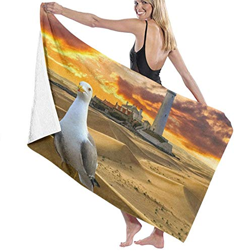 Pureny Pigeon-In-Desert-Wallpaper-53497 Toallas de playa de secado rápido, súper absorbentes, para baño o piscina, toallas para natación y al aire libre, 80 x 130 cm