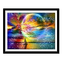 大人のためのジグソーパズル1000個海の夜空の惑星DIYフロアパズル大人の減圧子供教育ギフト50x75cm