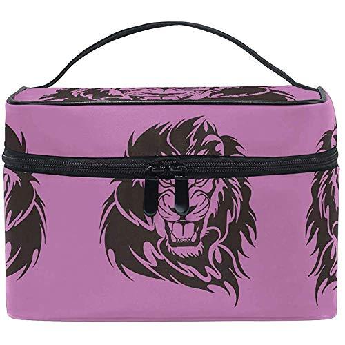 Sac cosmétique Purple King Sugar Lion Trousse de maquillage pour les femmes Sac cosmétique Trousse de toilette, train