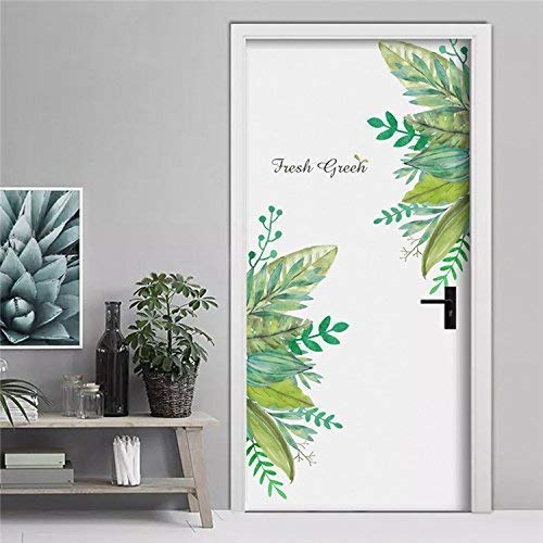 Pegatina Vinilo floral para puertas, cocinas, baños, despensas, farmacias, boutiques, probadores, restaurantes,...