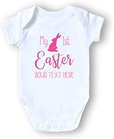 Baby bodysuit with Easter motif personalised my first Easter