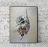 Banksy Kunstdruck Auf Leinwand,Kreative Abstrakte Tanzenden