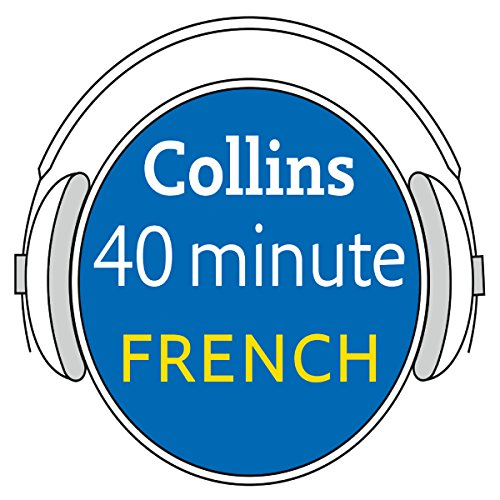 Learn to speak French in minutes with Collins audiobook cover art