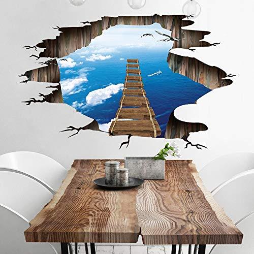 JHGJHGF 3D Broken Air Bridge Wandaufkleber Wohnzimmer Kinderzimmer Wandbild Tapete Home Decor Vinyl Wandkunst Aufkleber