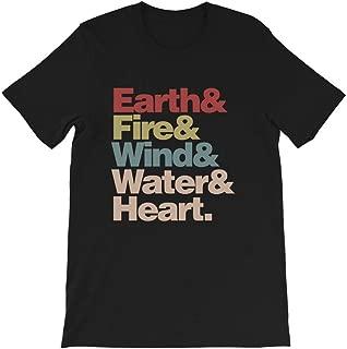 Earth & Fire& Wind& Water& Heart Funny Captain Planet Vintage Gift for Men Women Girls Unisex T-Shirt Sweatshirt
