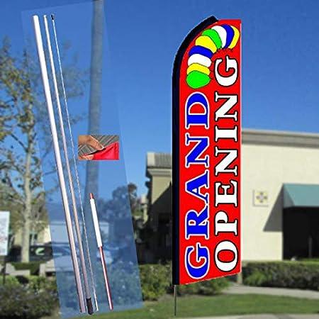 Flag, Pole, /& Ground Mount Breakfast Burritos Flutter Feather Flag Kit Bundle