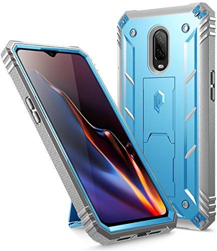 Poetic OnePlus 6T Rugged Case, Revolution [360 Degree Protection] Full-Body Rugged Heavy Duty Case with [Built-in-Screen Protector] for OnePlus 6T (2018) - Blue