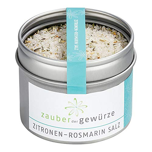 Zauber der Gewürze | Rosmarin Zitronensalz aus edlem Fleur de Sel | Premium-Qualität, 95 g
