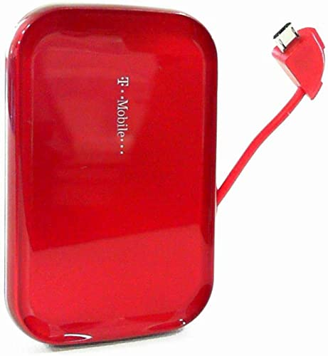 new arrival T-mobile Universal MicroUSB 2021 V9 outlet online sale Portable Battery Pack (Red) sale