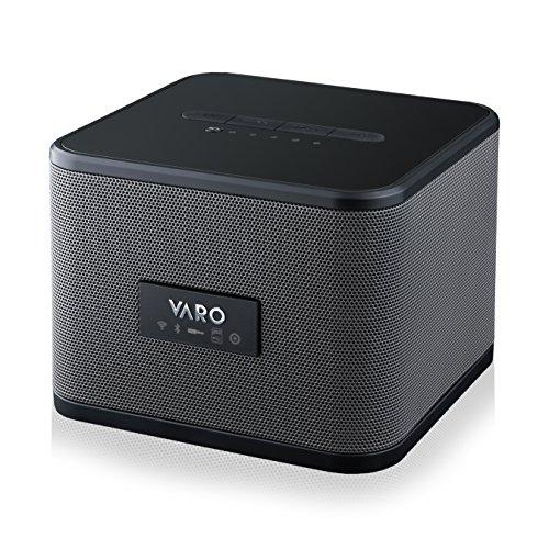 VARO Portable WiFi + Bluetooth Multi-Room Speaker, Cube, Black (iOS Only)