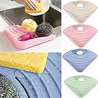 PULABO ?バスルームキッチンシンクコーナーストレージソープツールラックスポンジホルダーサクションカップピンクス創造的で実用的 実用的