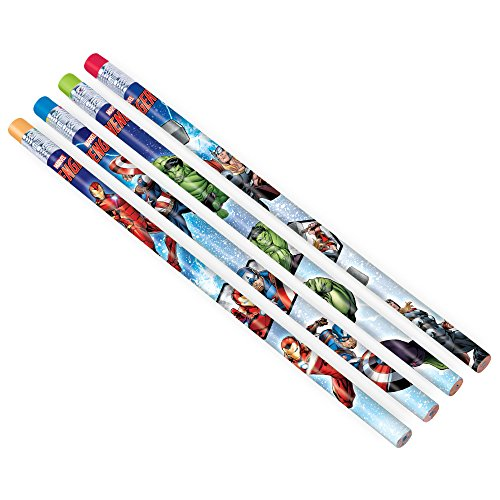 Amscan 398190 Marvel Epic Avengers Pencils, Party Favor, Multicolor, One Size