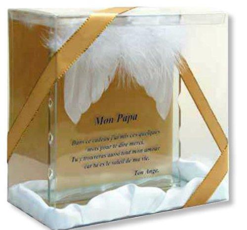 Plaque Verre Poussière D'ange Papa 15x15cm modèle 2