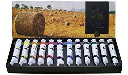 MIR Pack ACRÍLICOS Set con 12 Tubos de Pintura acrílica Campos. Gama de 12 Colores. Tubos de 20ml.