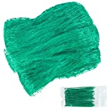 Unves Green Anti Bird Net, Reusable Mesh Garden Netting Fruit Tree Netting to Protect Seedlings Plants Flowers Vegetables from Rodents Birds Deer Reusable Fencing (13Ft x 26Ft)