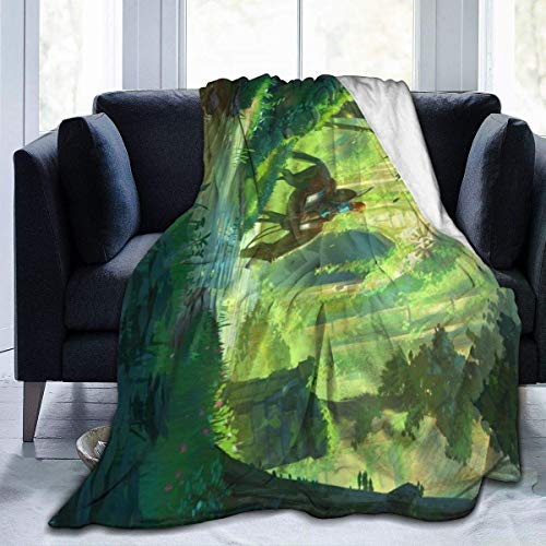 BigHappyShop Legend of Zelda Breath of Wild Ultra-Soft Micro Fleece Blanket Throw Super Soft Anti-Pilling Lightweight Sofa Plush Bed Couch Living Room