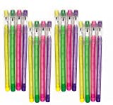 Emraw No 2 HB Translucent Pencils Multipoint Non-Sharpening Stackable Pencil with Matching Eraser (Pack of 16) - for Girls, Kids, Students, Teachers, Office