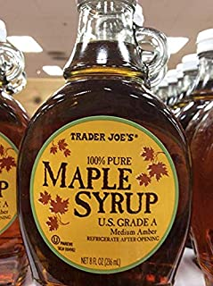 Trader Joe's US Grade A 100% Pure Maple Syrup 8 Fl oz (Pack of 3)