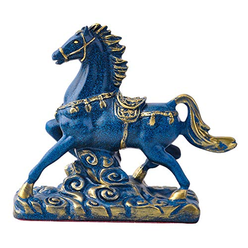 LGYKUMEG Pferd deko,Feng Shui Horse Statue Decor, Tierskulpturen Modernes Wohnkultur für Tischdekoration Dekoration Ornamente für Reichtum und Erfolg Gute glückliche Geschenke