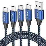 NIMASO Cable USB C 3A[4 Pack 0.3M+1M+2M+3M],Cable USB Tipo C para Carga y Sincronización Rápidas,Cargador Tipo C es Compatible con Samsung S10 S9 S8 A50 A70,Huawei P30 P20 Mate 20,Xiaomi Redmi Note 7…