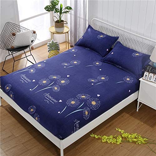 LUOYLYM Glatte Wasserdichte Matratzenbezug Anti Milben Matratze Wiederverwendbare Bett Pad Bettlaken Bett Bug Proof Matratze Topper Protector P4Sheets180cm*200cm+27cm