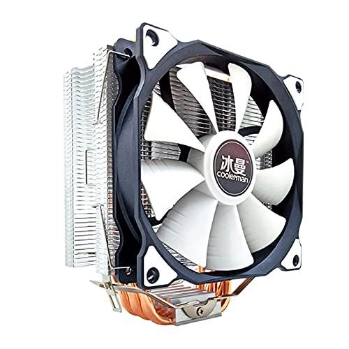 Pupazzo di Neve 6. Tubi di Calore PROCESSORE più Fresco RGB 12. 0mm. PWM 4. Pin per Intel. LGA 2011 1200 1150 1151 1155 AMD AM3 AM4 PC CPU Fan di Raffreddamento Silenzioso.