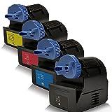 4x kompatible Tonerkartuschen für Canon Imagerunner C-3380i Imagerunner C-3580 i Imagerunner C-3580i Imagerunner C-3580 Ne IR-C-2380i IR-C-2550 IR-C-2880 IR-C-2880i IR-C-2880 V2 C-EXV21 CEXV 21 0452B002 Schwarz Cyan Magenta Yellow - Set - Premium Line Serie