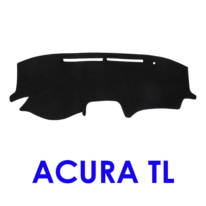 JIAKANUO Auto Car Dashboard Carpet Dash Board Cover Mat Fit for Acura TL 2004-2008 (Black)