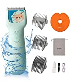 Bololo Baby Hair Clippers - silent hair clippers for kids Quiet Children Hair Trimmer with Autism, Hair Cutting Kits Cordless & Waterproof Chargeable Ceramic Blade Haircut Kit for Kids Infants