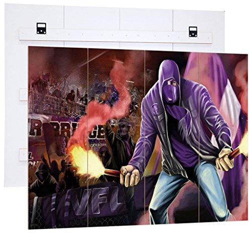 Ultras Osnabrück, MDF-Holzbild im Bretterlook, Fußball Fan-Artikel, Wanddekoration, MDF-Holzbild im Bretterlook Format: 80x60cm, Wanddekoration