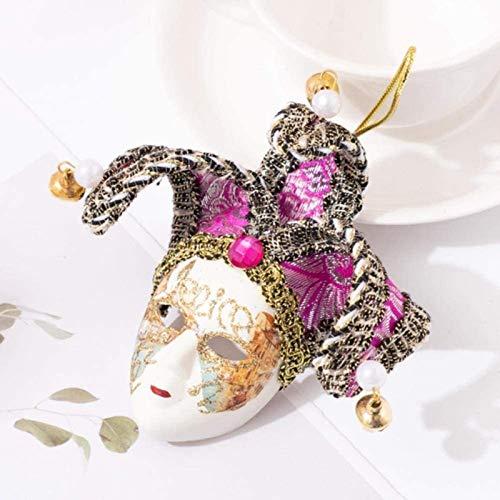 ZP-MIN j-O - Imanes de nevera con diseño de máscara de Venecia, campana de payaso, decoración para el refrigerador