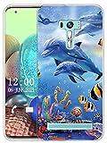 Sunrive Kompatibel mit Asus Zenfone Selfie ZD551KL Hülle Silikon, Transparent Handyhülle Schutzhülle Etui Hülle (X Wal)+Gratis Universal Eingabestift MEHRWEG
