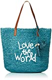 Borsa Donna DESIGUAL bols message new shape 20saxo02 unica petrolio