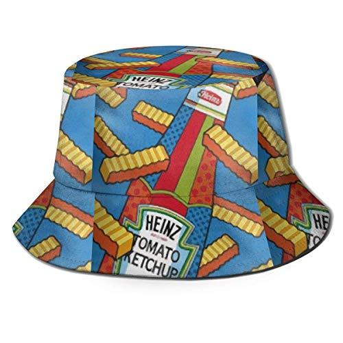 cvbnch Fischerhüte French Fries and Ketchup Fisherman's Hat Men Women Packable Sunmmer Travel Bucket Cap Hat Bucket Sun Hat Sunscreen