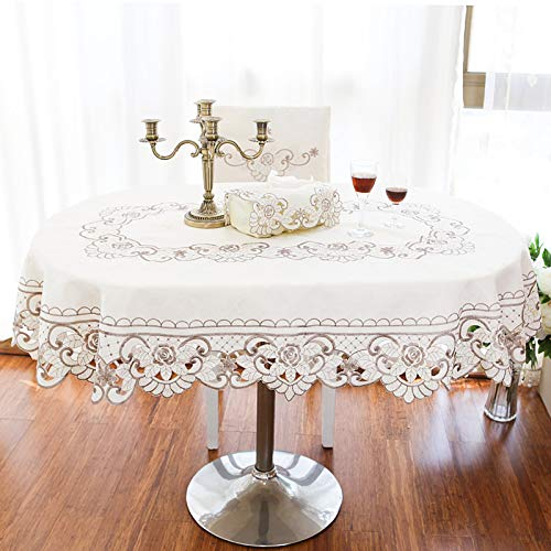 ASDFF Tischdecke Europäische Tischdecke Einfache Stofftischdecke Idyllische Tischdecke Couchtisch Anti-Bügel Tischdecke 145 * 220 Ellipse European 6850