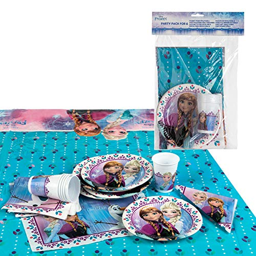 Disney - Pack de fiesta reciclable Frozen: mantel, platos, vasos, servilletas (71915)