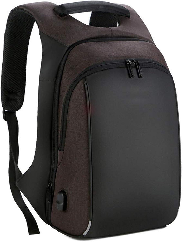 WWHLL Herren-Business-Rucksack Multifunktions-USB-Lade-15,6-Zoll-Laptoptasche Groe wasserdichte Reisetasche (braun)
