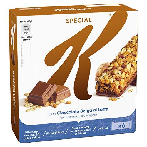 Kellog's Barrette di Cereali con Cioccolato, 6 x 20g