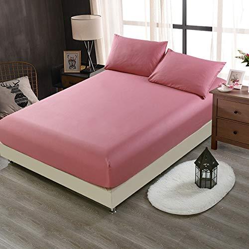 huyiming Verwendet für einfarbige Einteilige Baumwolle 1,8 mt bettdecke Simmons matratze Abdeckung rutschfeste Hotel Bean Paste 150 * 200 * 28